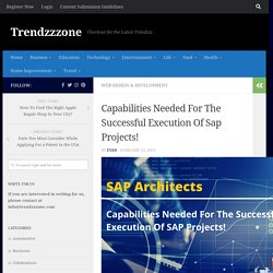 Capabilities Needed For The Successful Execution Of Sap Projects!