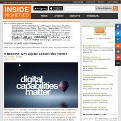 9 Reasons Why Digital Capabilities Matter