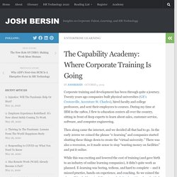 The Capability Academy: Where Corporate Training Is Going