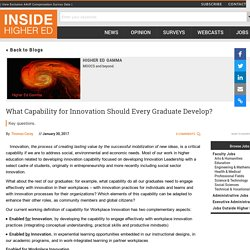 What Capability for Innovation Should Every Graduate Develop?