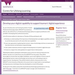 Develop your digital capability to support learners' digital experience