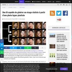 Une IA capable de générer un visage réaliste à partir d'une photo hyper pixelisée