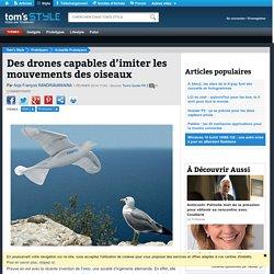 Des drones capables d'imiter les mouvements des oiseaux