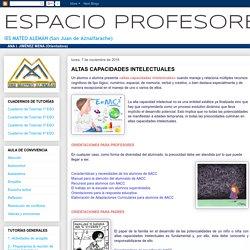 ESPACIO PROFESORES: ALTAS CAPACIDADES INTELECTUALES