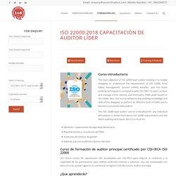 ISO 22000:2018 Capacitación de auditor líder - IAS Mexico
