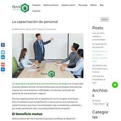 La capacitación de personal - Préstamos iBAN