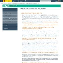 Capacitación del profesorado TIC - Materiales formativos en abierto