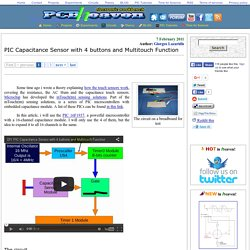 PIC Capacitance Sensor with 4 buttons and Multitouch Function