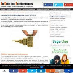 La capacité d'autofinancement ou CAF