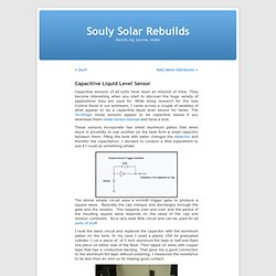 Capacitive Liquid Level Sensor « Souly Solar Rebuilds