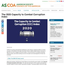 The 2020 Capacity to Combat Corruption Index