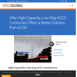 High-Capacity, Low-Sag ACCC conductors outperform other conductors