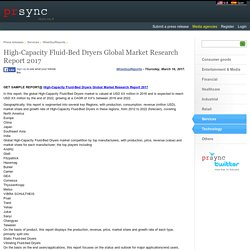 High-Capacity Fluid-Bed Dryers Global Market Research Report 2017