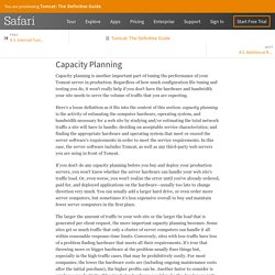 4.4. Capacity Planning - Tomcat: The Definitive Guide [Book]