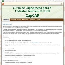 CAPCAR » Inscrições para capacitação no CAR