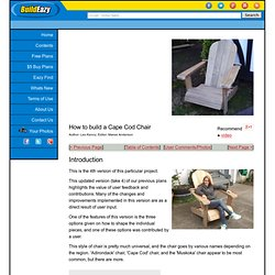 Cape Cod aka Adirondack chair project page 1