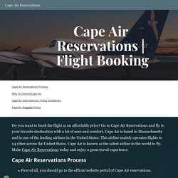 Cape Air Reservations