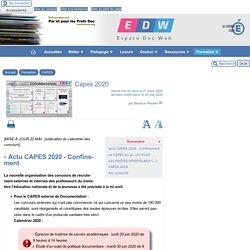 Capes 2020 - [Espace Doc Web]