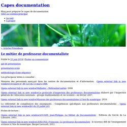 Blog pour préparer le capes de documentation