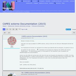 CAPES externe Documentation (2015)