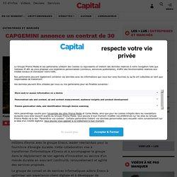 CAPGEMINI annonce un contrat de 30 millions d'euros aux Pays-Bas