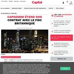 CAPGEMINI étend son contrat avec le fisc britannique