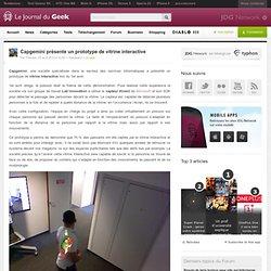 Capgemini présente un prototype de vitrine interactive