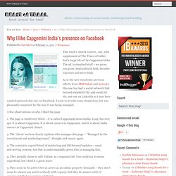 Why I like Capgemini India's presence on Facebook | Beast of Traal