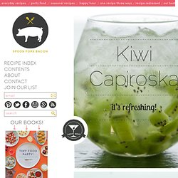 Kiwi Capiroska Cocktail Recipe
