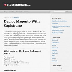 Deploy Magento with Capistrano - Design Disclosure - Portfolio & Personal Blog of Alistair Stead