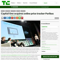 Capital One acquires online price tracker Paribus