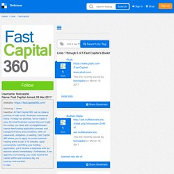 Fast Capital's Bookmarks (User fastcapital)