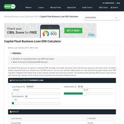Capital Float Business Loan EMI Calculator 2020