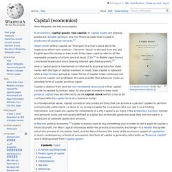 Capital (economics) - Wikipedia