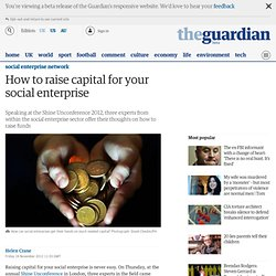How to raise capital for your social enterprise