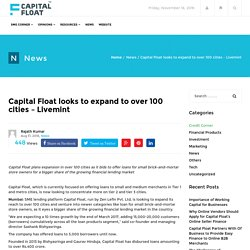 Capital Float looks to expand to over 100 cities – Livemint