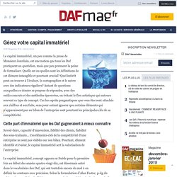 DAF Mag - Gérez votre capital immatériel