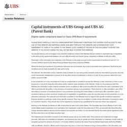 Capital instruments