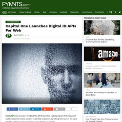 Capital One Launches Digital Identity APIs