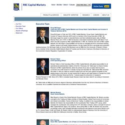 RBC Capital Markets - About RBCCM - Executive Team
