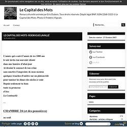 LE CAPITAL DES MOTS- RODRIGUE LAVALLÉ - Le Capital des Mots