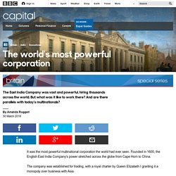 East India Company - Once world's most powerful corporation 2 clicks