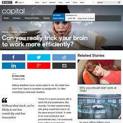 Capital - Can you really trick your brain to work more efficiently?