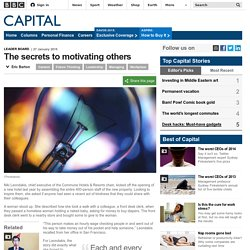 Capital - The secrets to motivating others