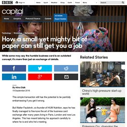 Capital - How a small yet mighty bit of paper can still get you a job