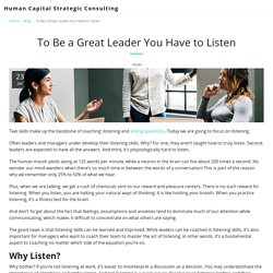 Active Listening: A Critical Leadership Skill
