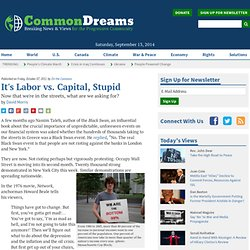 It's Labor vs. Capital, Stupid