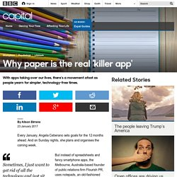 Capital - Why paper is the real 'killer app'