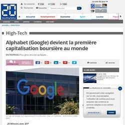 Alphabet (Google) devient la première capitalisation boursière au monde