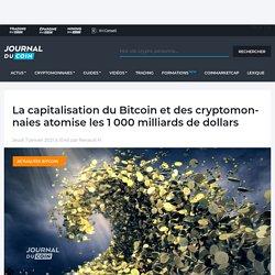 La capitalisation du Bitcoin et des cryptomonnaies atomise les 1 000 milliards de dollars